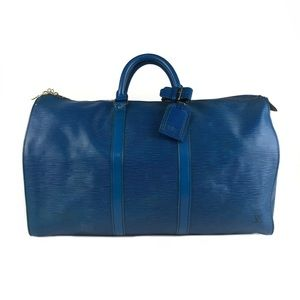 Louis Vuitton Epi Leather Keepall Duffle Bag